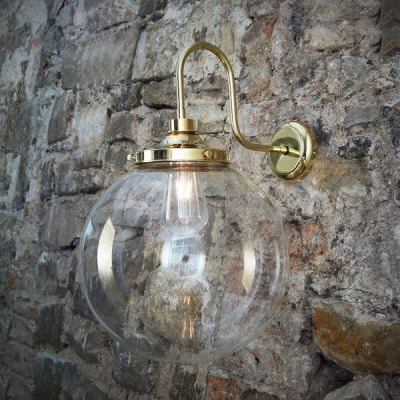 Laguna Swan Neck Wall Light Polished Brass