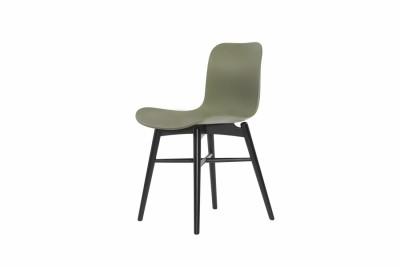 Langue Original Dining Chair, Black Moss Green