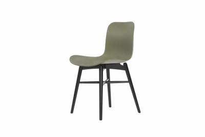 Langue Original Dining Chair, Black Moss Green