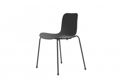 Langue Stack Dining Chair Anthracite Black