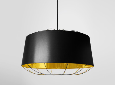 Lanterna Large Pendant Light Black
