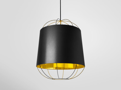 Lanterna Medium Pendant Light Black