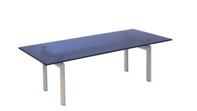 LC6 Dining Table - Limited Edition Ivory Base, Blue Top