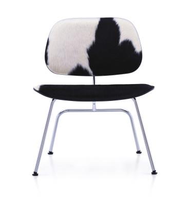 LCM - Lounge Chair Metal Calf's Skin Natural ash - skin brown/white, 05 felt glides for hard floor