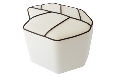 Leaf Seat stool White, Black