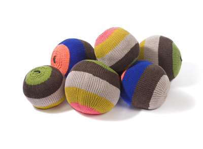 Knitted Ball Cushions by Stine Leth for Korridor