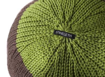 Knitted Ball Cushion in Curry by Stine Leth for Korridor