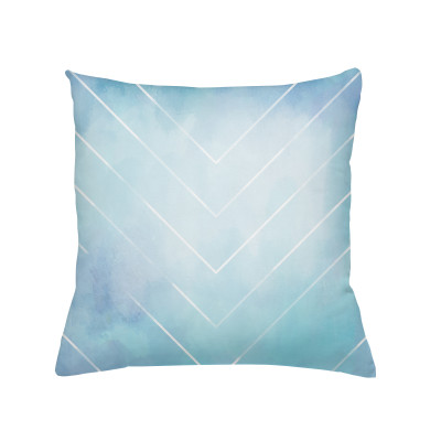 Light blue cushion with insert