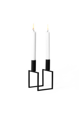 Line Candleholder - Set of 3 Black