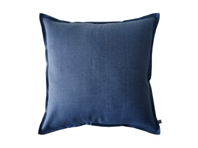 indigo linen cushion