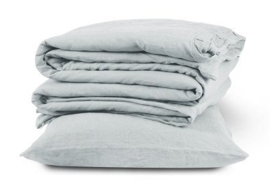Linen Duvet Cover Classic White, Double