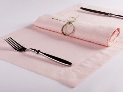 Linen napkins or Linen placemats Set of Six Dusty rose placemats