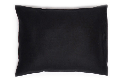 Black linen pillowcase 2 pillowcases 50x75cm