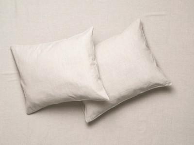 linen pillowcases sand brown