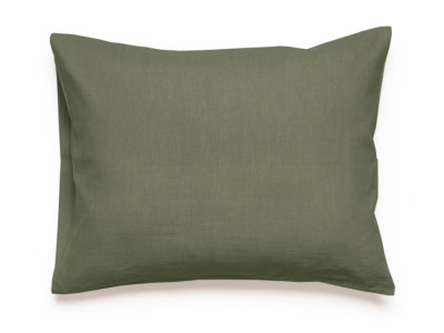 Linen Pillowcase - Moss Green 1 pillowcase 50x75cm