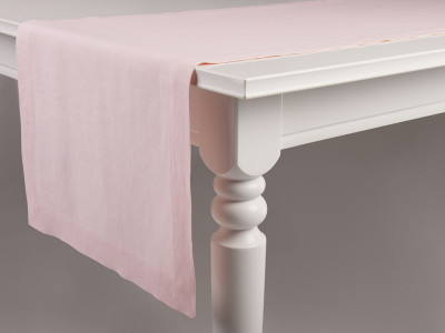Linen table runner Dusty rose 40x240cm