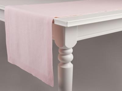 Linen table runner Dusty rose 40x240cm