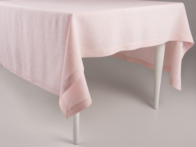 Linen tablecloth Dusty rose 140x240cm