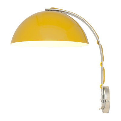 London Wall Light Yellow with Chrome