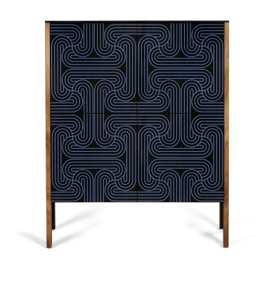 Loop Cabinet 4 Door Dark Blue