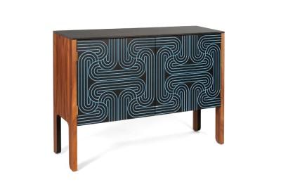 Loop Cabinet  Blue, Low