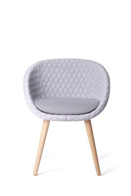 Love Dining Chair Moooi White Washed, Pluch White