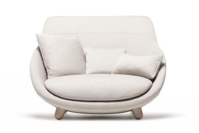 Love Sofa with High Back Moooi Cinnamon, Abbracci Black