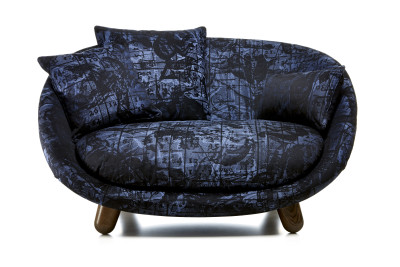 Love Sofa Cervino Leather Anthracite, Moooi Black Stained
