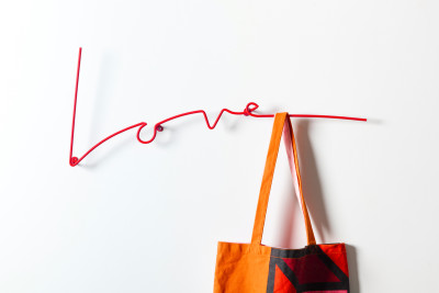 Love Typographic Coat Rack Love Coat Rack Red