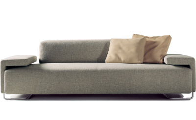 Lowland 3 Seater Sofa A4500 - Art.48045 - 206 beige, Oxidored Feet