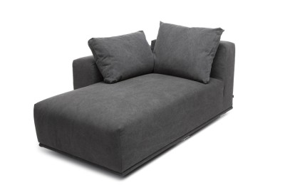 Madonna Sofa, Chaise Longue Right Module Canvas Black