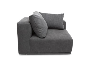 Madonna Sofa, Left Arm Module Canvas Black