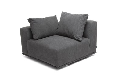 Madonna Sofa, Right Arm Module Canvas Black