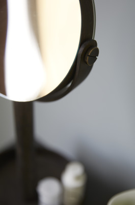 Magnifying mirror close-up Magnifying mirror