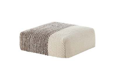 Mangas Space Plait Square Ottoman Ivory