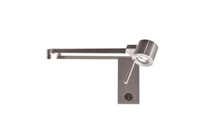 Manhattan Wall Light Satin nickel, with switch