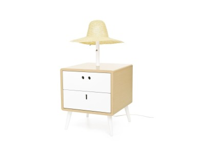 Maria Bedside Table & lamp  Standard