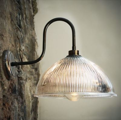 Maris Swan Neck Wall Light Antique Silver