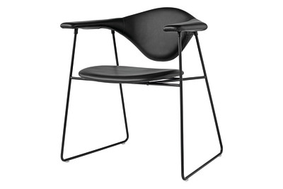 Masculo Dining Chair with Sledge Base Balder 3 132, Black Base