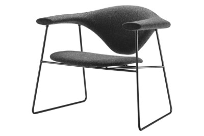 Masculo Lounge Chair with Sledge Base Balder 3 132, Black Base