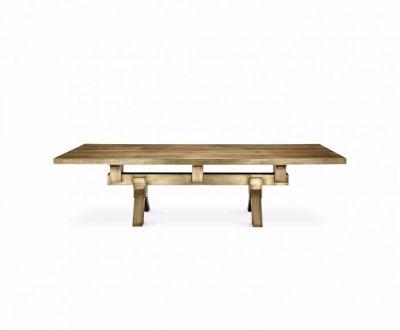 Mass Dining Table Brass