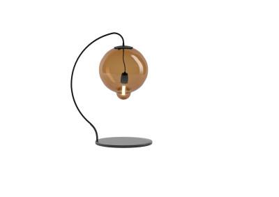 Meltdown Single Table Lamp Amber