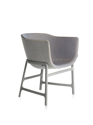Minuscule Chair with Leather Piping Black-White 152, Black-White 152