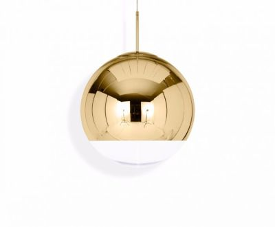 Mirror Ball Pendant Light Gold, 50cm