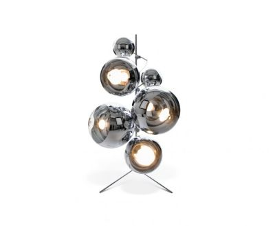 Mirror Ball Tripod Stand Chrome
