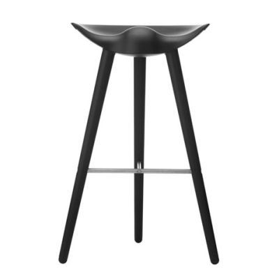 ML42 Barstool Bl. Stained Beech / Stainless Steel