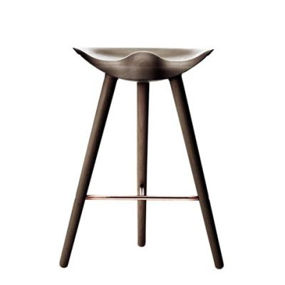 ML42 Counter Stool Brown Oiled Oak / Copper