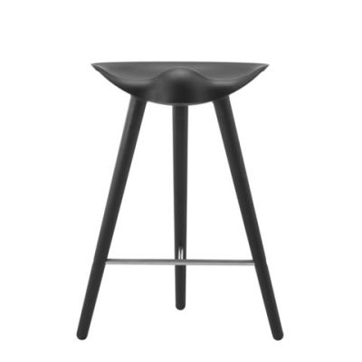 ML42 Counter Stool Black Stained Beech / Stainless Steel