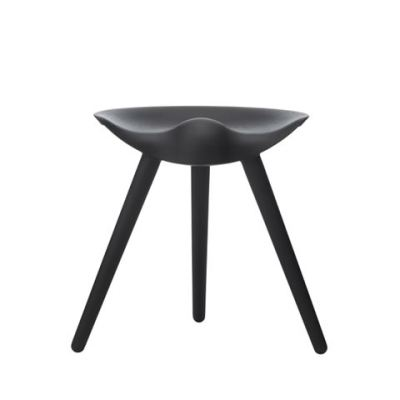 ML42 Stool Black Stained Beech