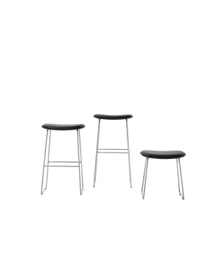 Morrison Stool Wooden Seat wengé-stained ash, anthracite, large